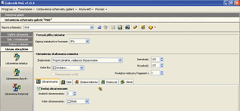 Rys. 9. Opcje do ustawiania parametrów miniatur - jest tu wszystko, czego trzeba każdemu webmasterowi