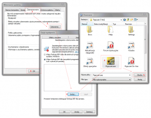 Wyłączanie funkcji DEP dla wybranego programu