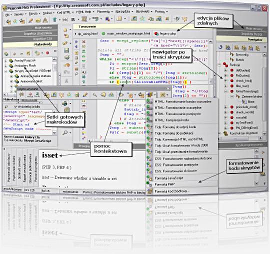 Pajączek 5 NxG - Program do tworzenia stron WWW w HTML i PHP