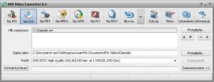 Video Converter - główne okno - łatwa konwersja video, avi, dvd