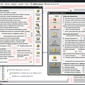 Okno ustawień czcionki Pajączka w Debian Linux