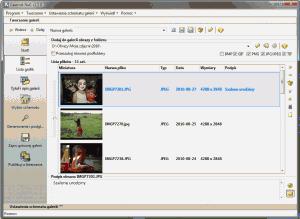 Okno wyboru zdjęć w Galerniku 1.5.0
