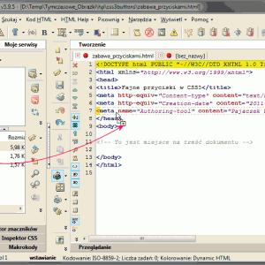 Umieszczenie arkusza CSS z przyciskami w dokumencie