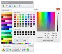 Nowe okno palety kolorów