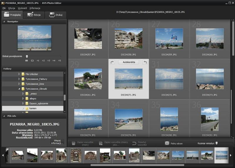 AVS Photo Editor - przeglądarka zdjęć
