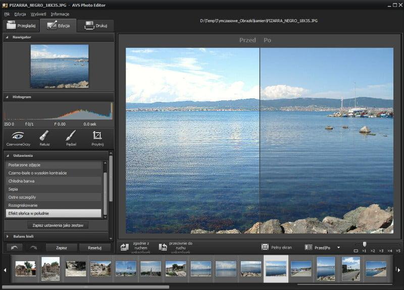 AVS Photo Editor - zakładka Edycja