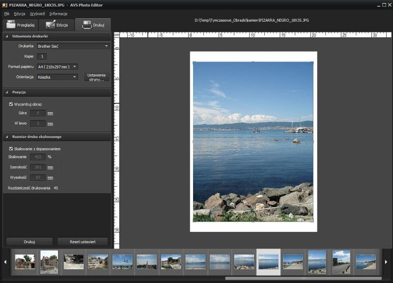 AVS Photo Editor - wydruk zdjęć